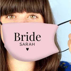 Personalised Bride Facemask