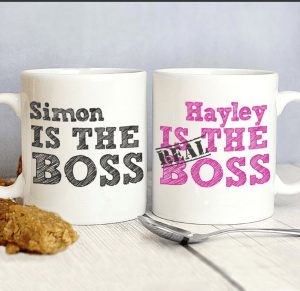 the boss personalised mugs