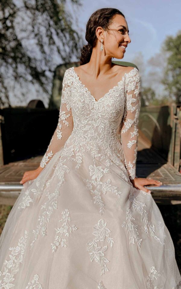 7169LS by Stella York available from Caroline Clark Bridal Boutique, Droitwich